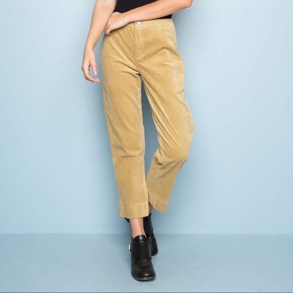 discount price differently temperament shoes brandy melville mustard yellow corduroy pants